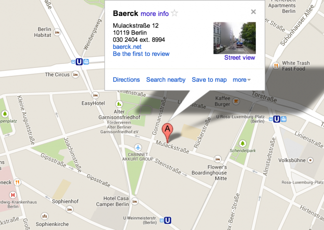 Baerck Map